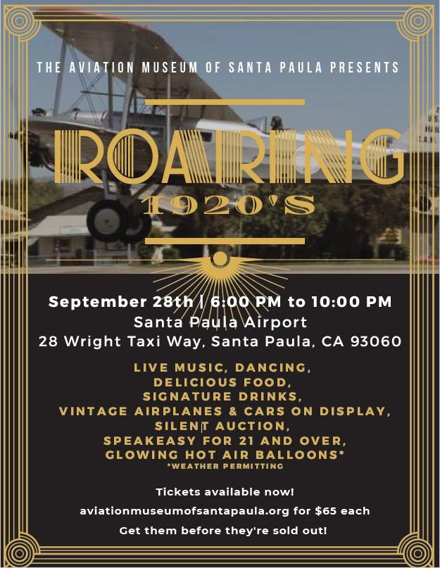 Roaring 1920s event at the Aviation Museum of Santa Paula
